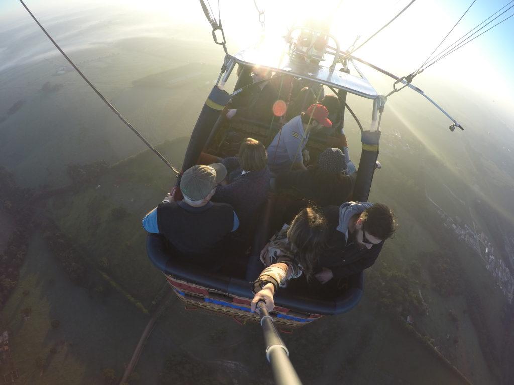 Voo de balão em Boituva, SP (Foto: Tati Sisti)