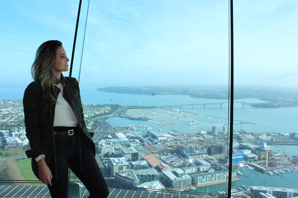 Sky Tower, na Nova Zelândia (Foto: Tati Sisti)