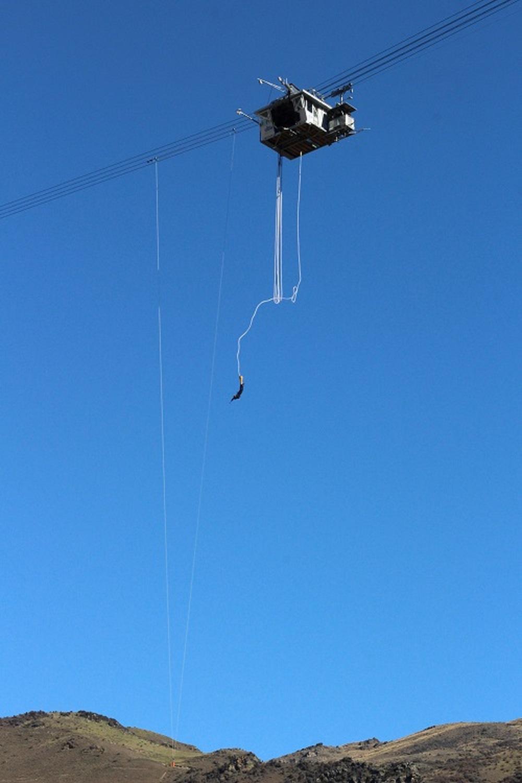 Salto de bungee jump na Nova Zelândia (Foto: Tati Sisti)