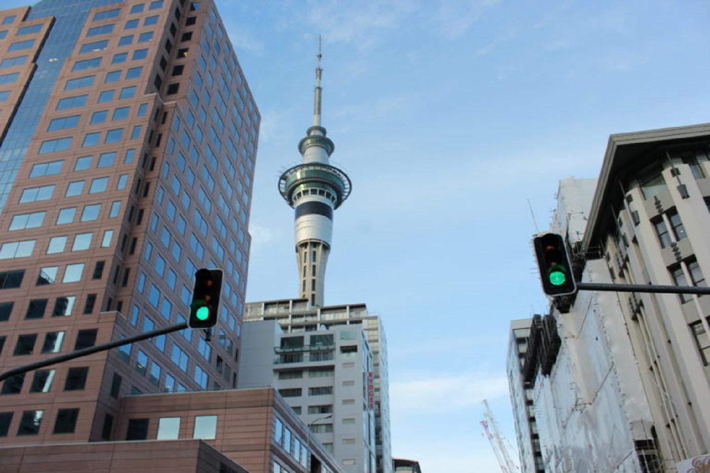 SkyTower, na Nova Zelândia (Foto: Tati Sisti)