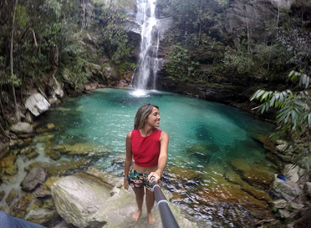 Cachoeira Santa Barbara, na Chapada dos Veadeiros (Foto: Tati Sisti)