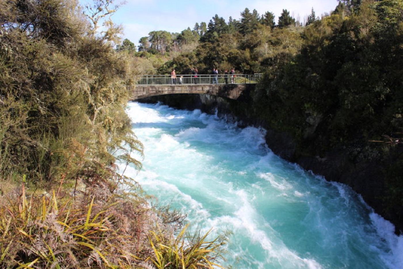 Huka Falls, em Taupo (Foto: Tati Sisti)