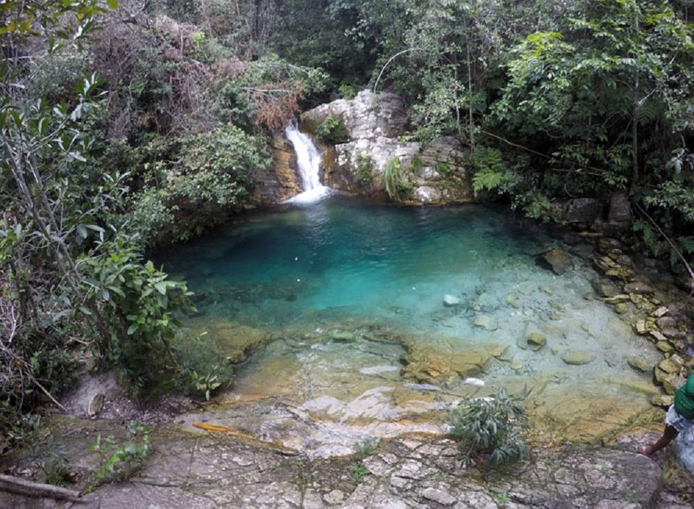 Cachoeira Santa Barbara, na Chapada dos Veadeiros (Foto: Gabriel Bester)