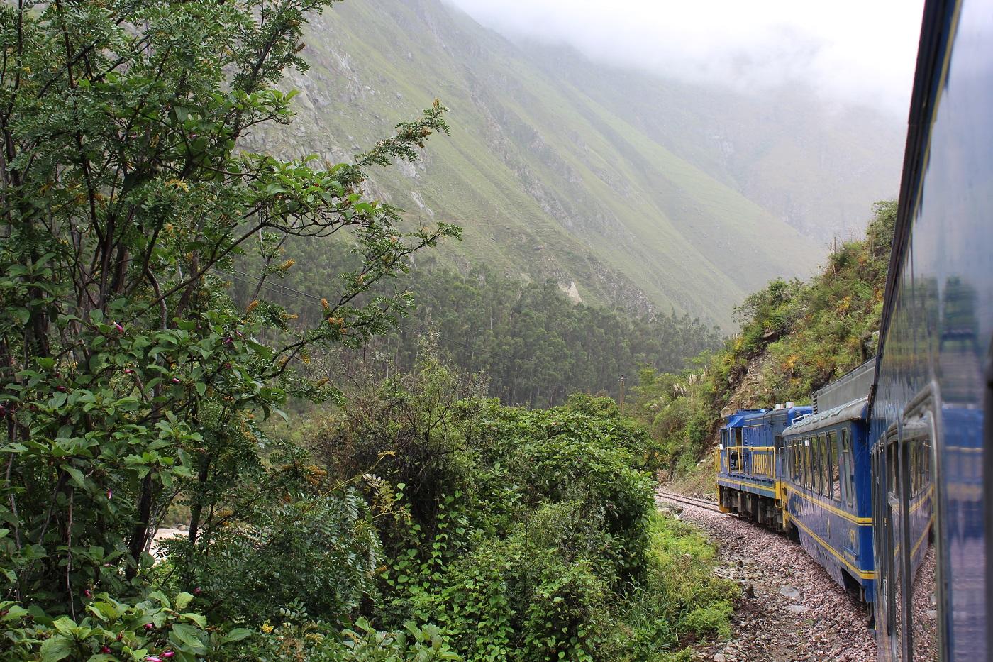Trem para Águas Calientes (Foto: Tati Sisti)