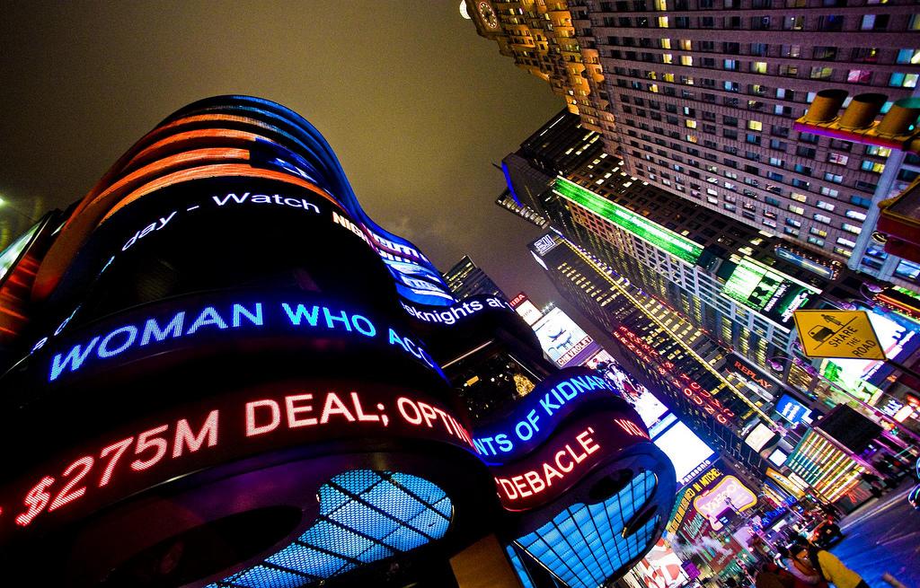 Times Square, em Nova York (Foto: Thomas Hawk / Flickr)