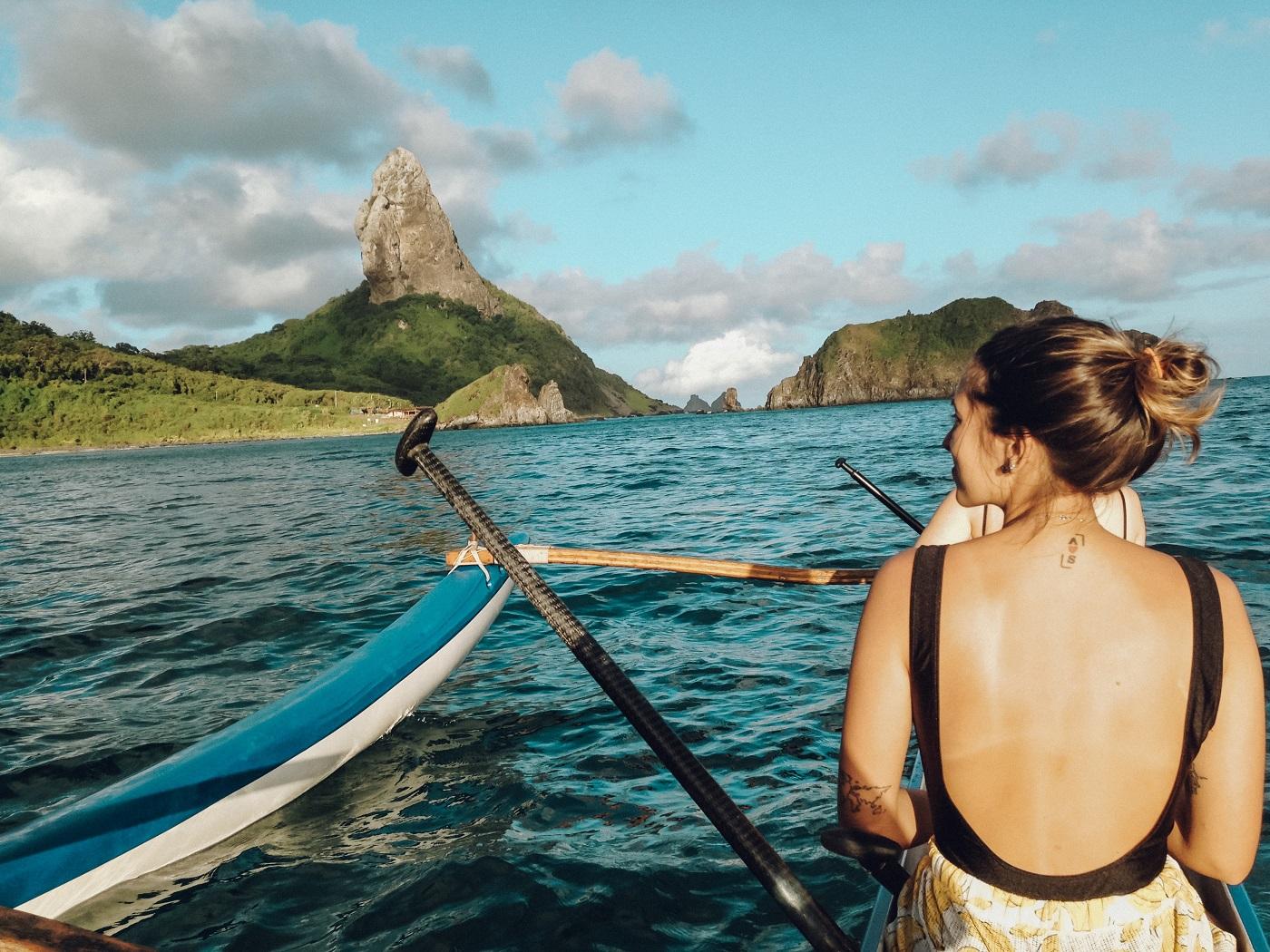 Passeio de canoa havaiana (Foto: Tati Sisti)