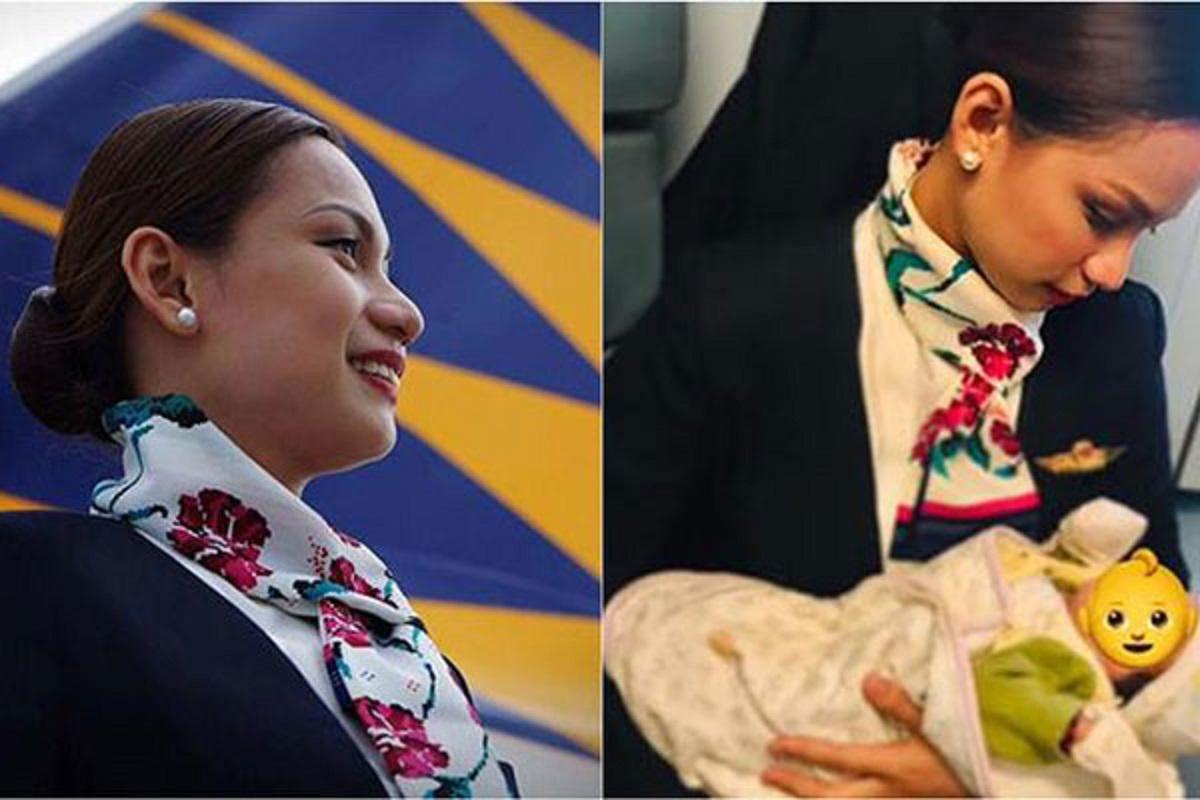 Patrisha Organo ajudou o bebê durante um voo (Foto: Reprodução / Facebook)