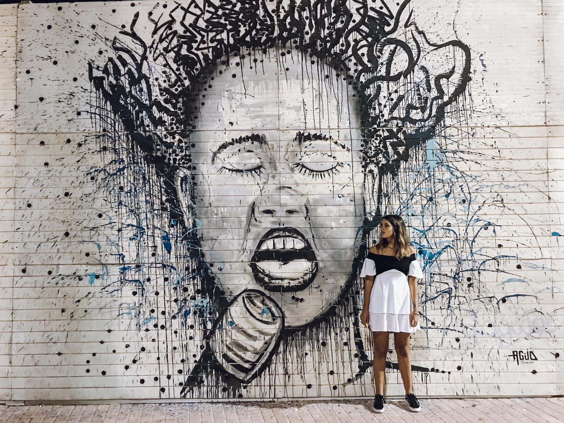 Arte nas paredes do centrinho de San Andrés (Foto: Gabriel Bester)