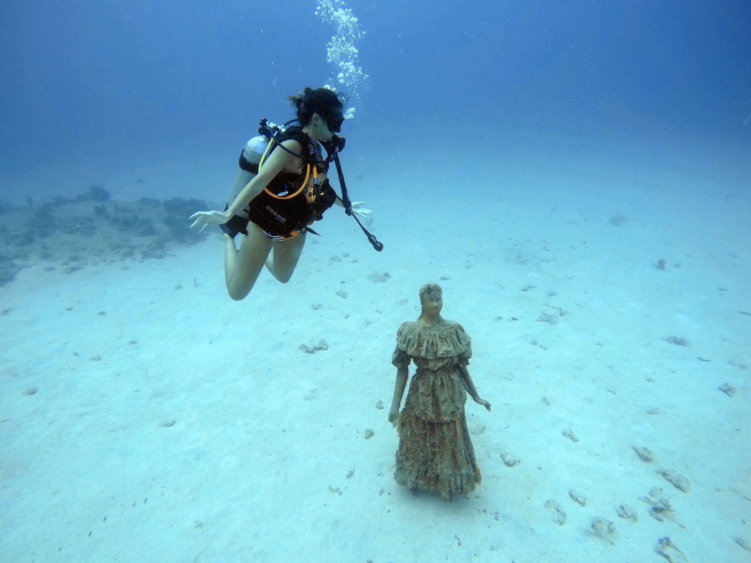Mergulho no Valle de las Estatuas, em San Andrés (Foto: Gabriel Bester)