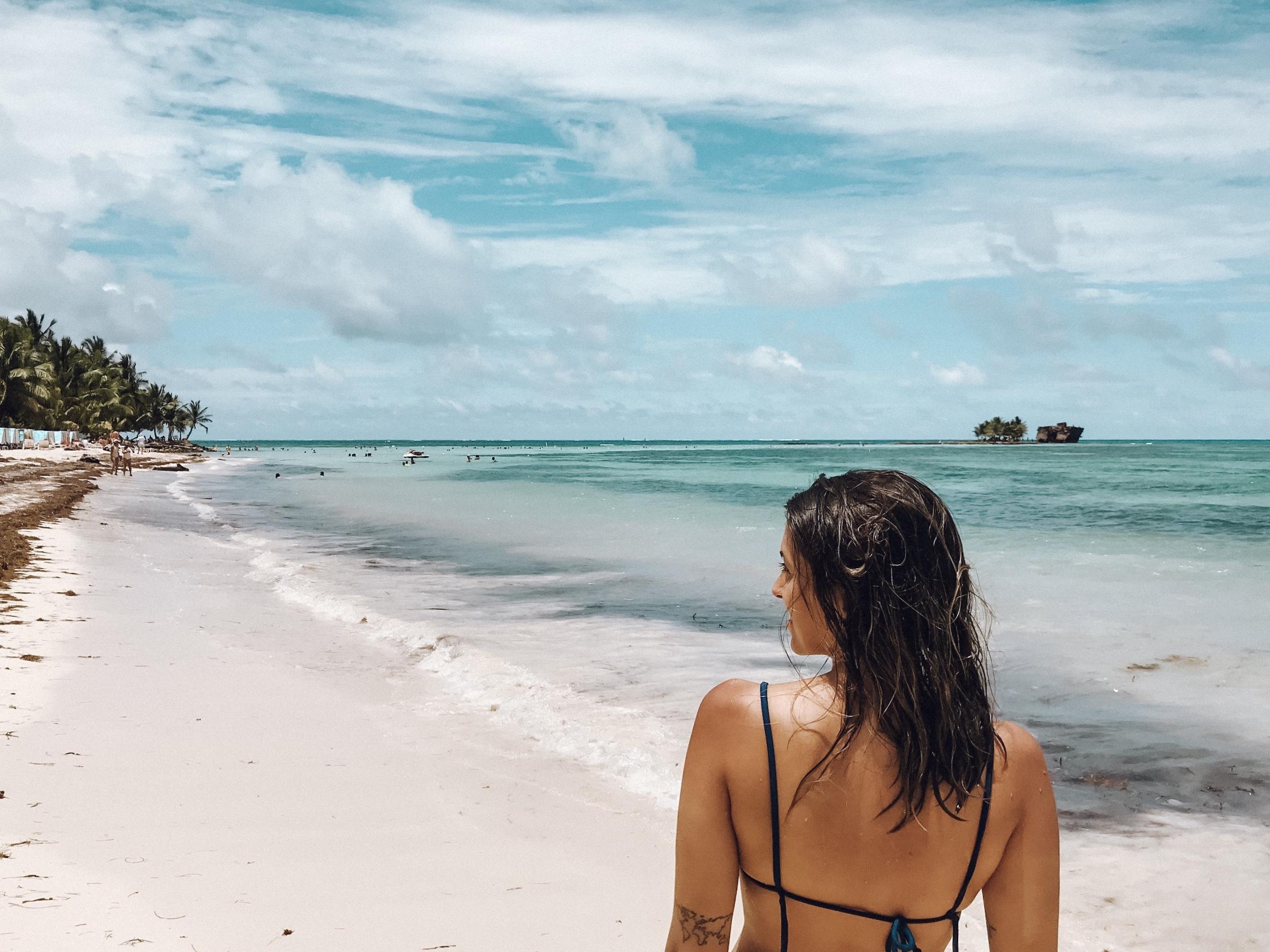 Praia San Luis, em San Andrés (Foto: Gabriel Bester)