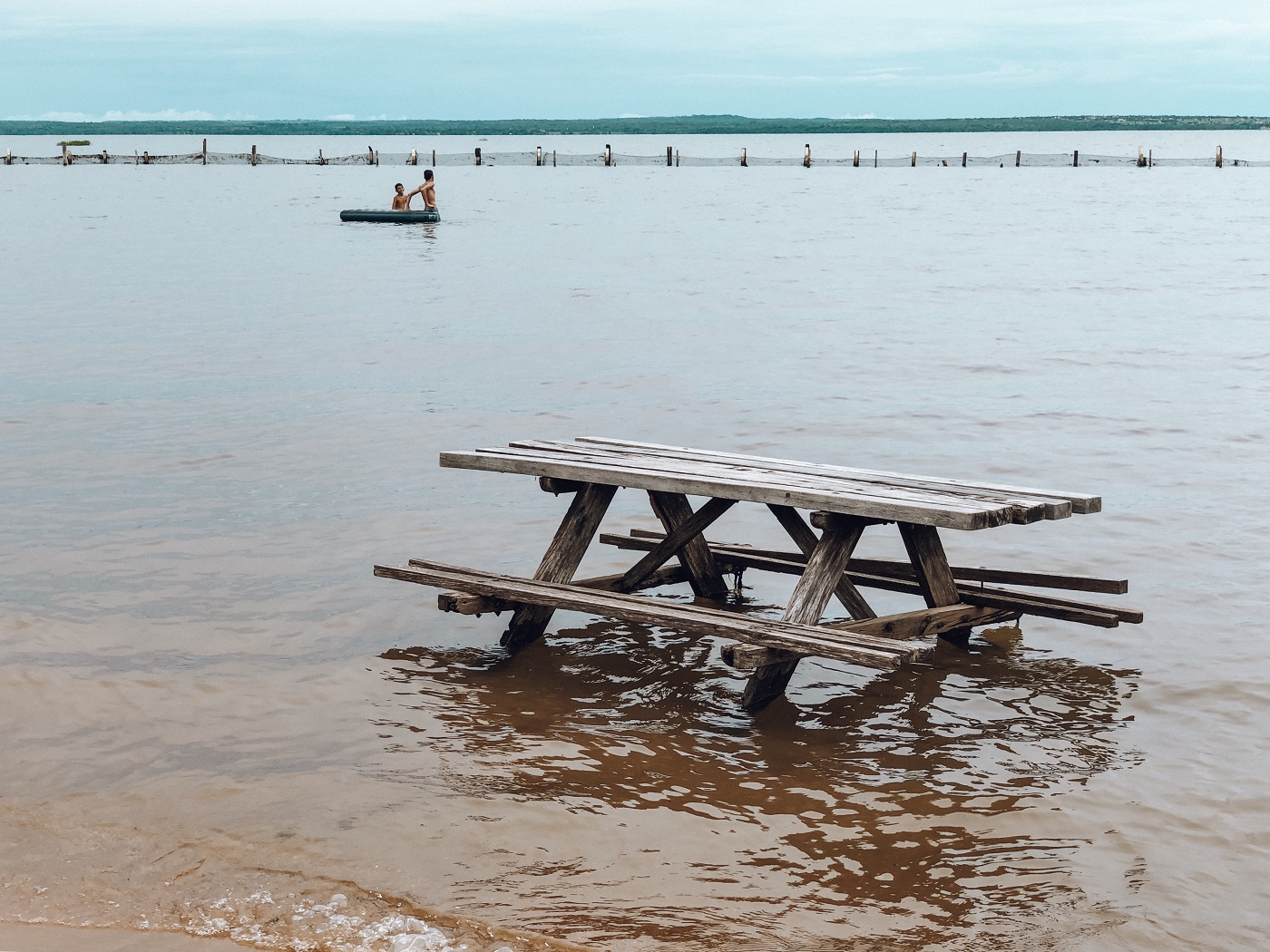 Praia do Prata, em Palmas, Tocantins (Foto: Tati Sisti)