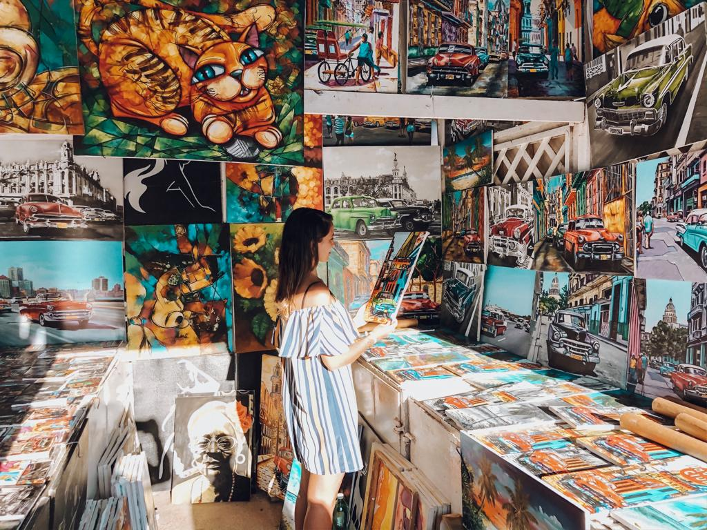 Loja de quadros em Varadero, Cuba (Foto: Gabriel Bester)
