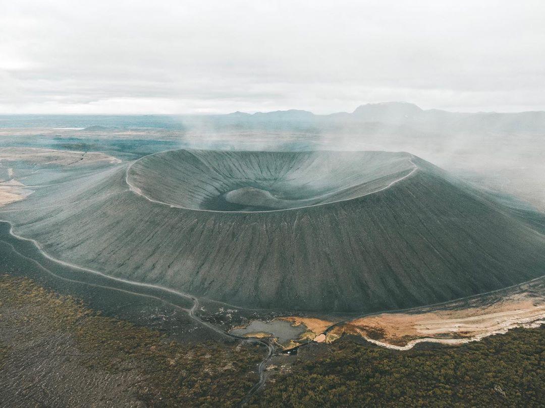 Vulcão Hverfjall, na Islândia (Foto: Trip To Follow)
