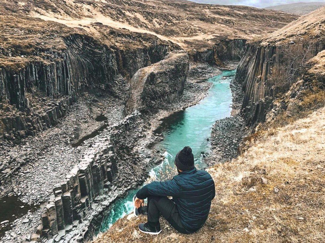 Studlagil Canyon, na Islândia (Foto: Reprodução)