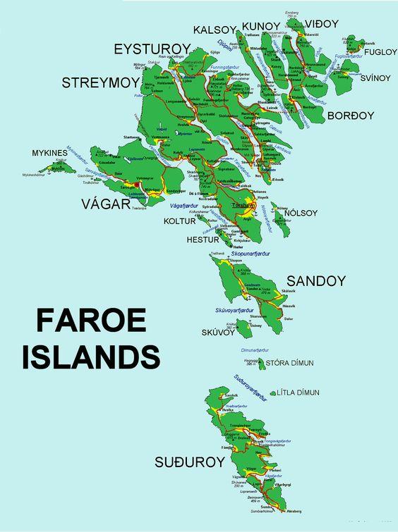 Mapa de Faroe Islands (Foto: Divulgação)