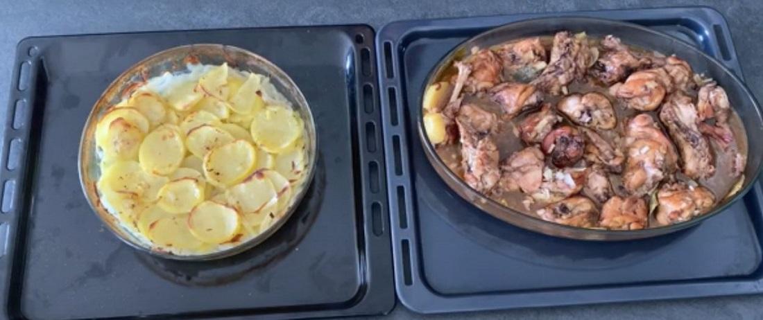 Coelho frito maltês e batatas maltesas (Foto: Thais Sampaio)