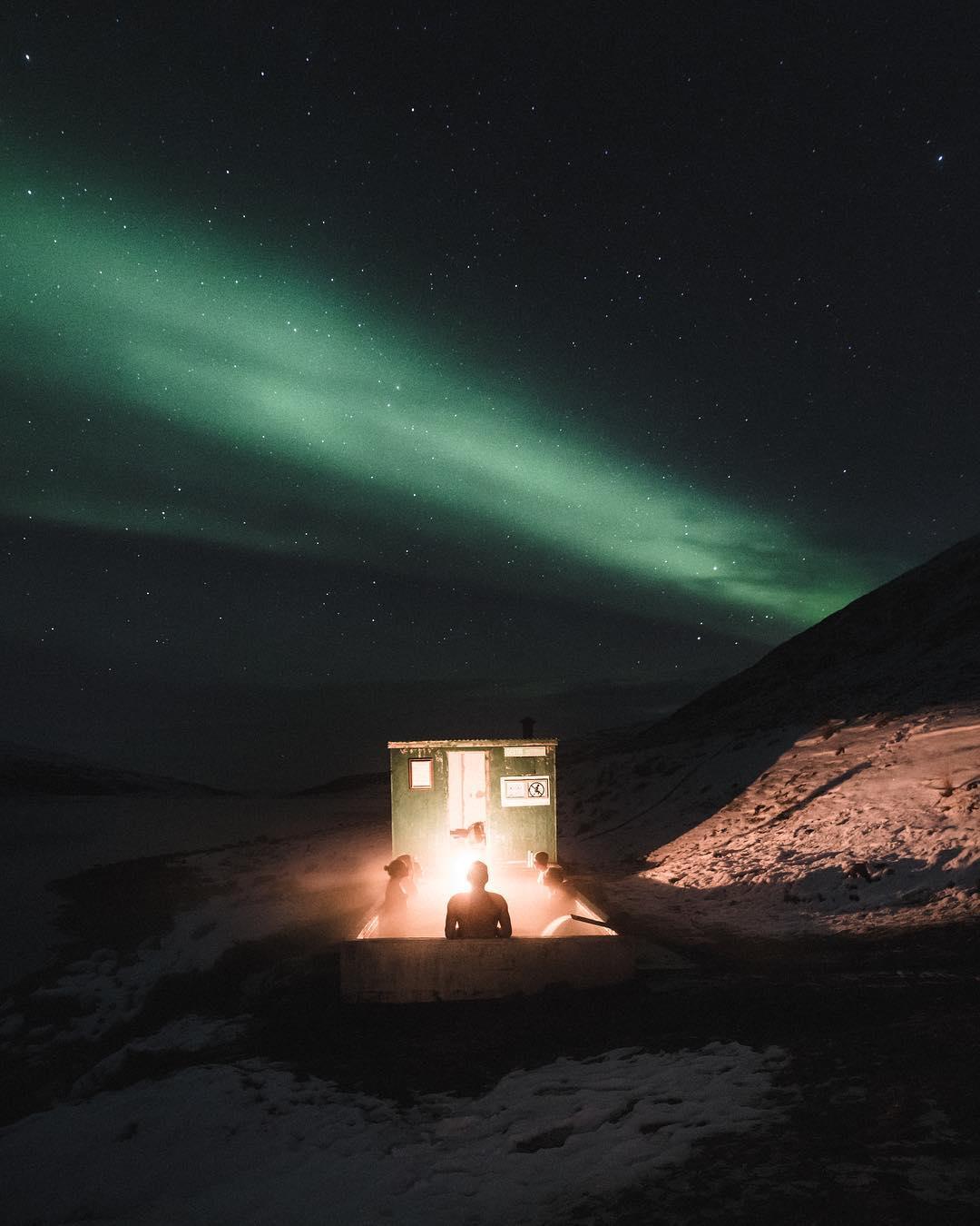 Aurora Boreal na Islândia (Foto: Reprodução @icelandic_explorer)